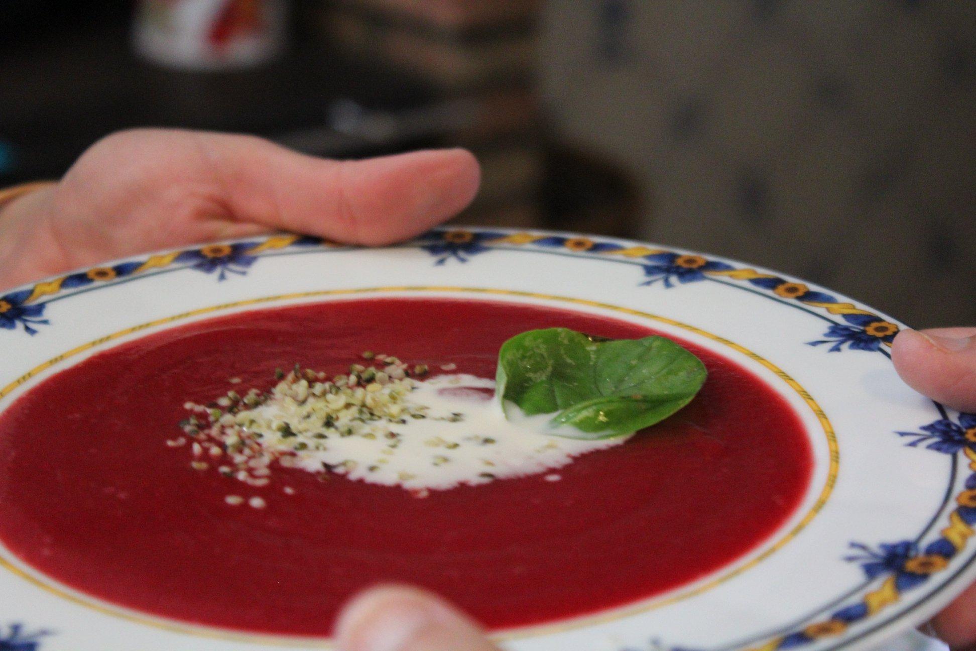 Sopa Vermelha com Manjericão - Mil Grãos - Macrobiótica