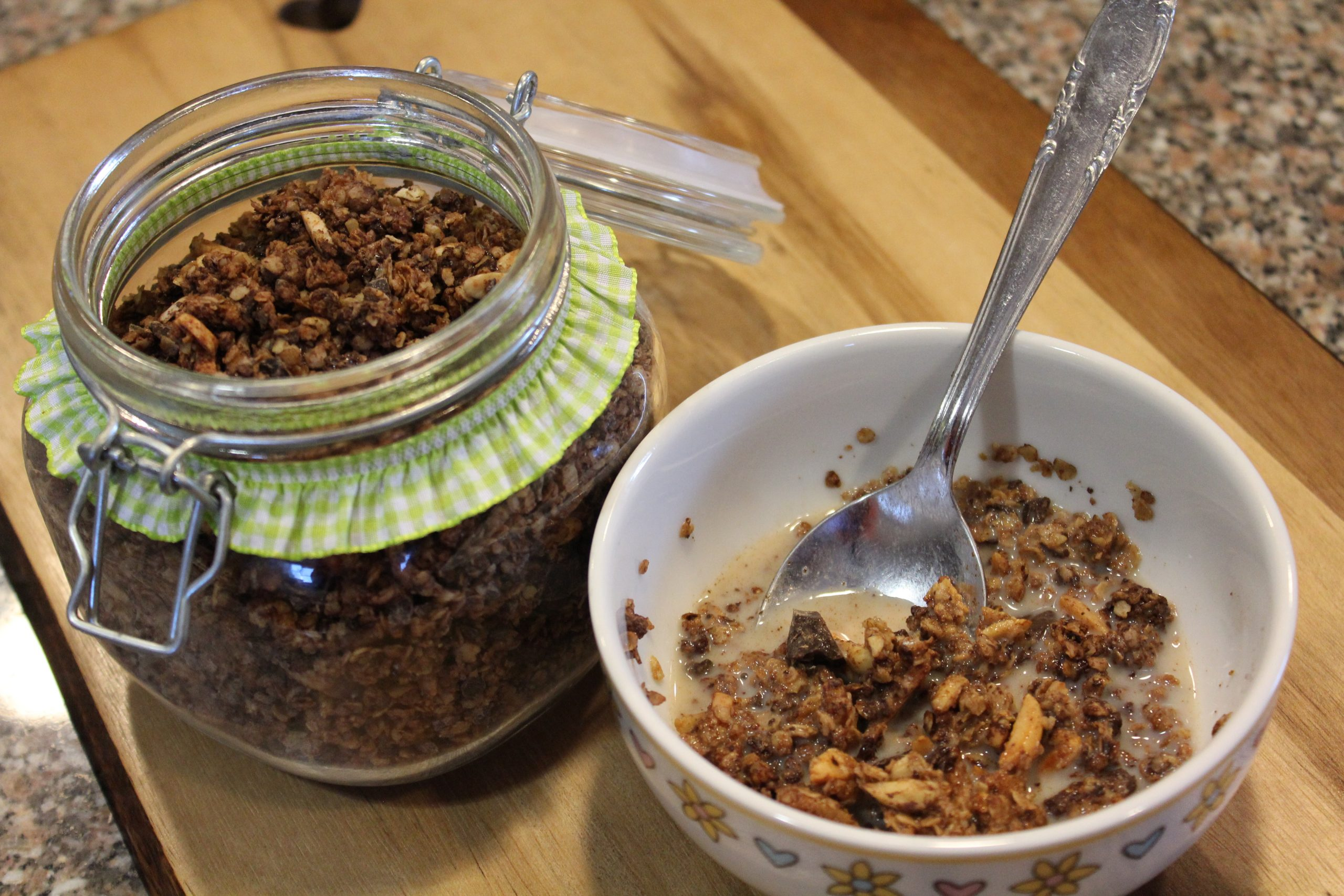 A Granola de Chocolate da Mil Grãos