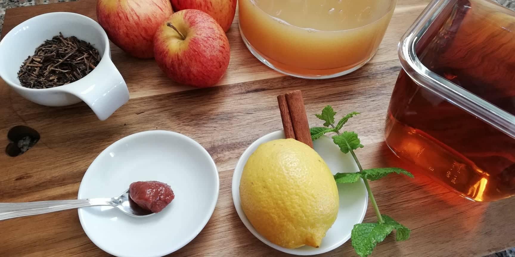 Chá frio de maçã e canela - Mil Grãos